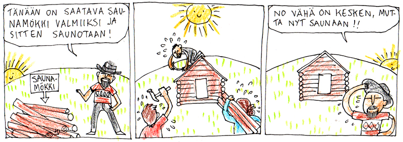 Saunan rakentaminen